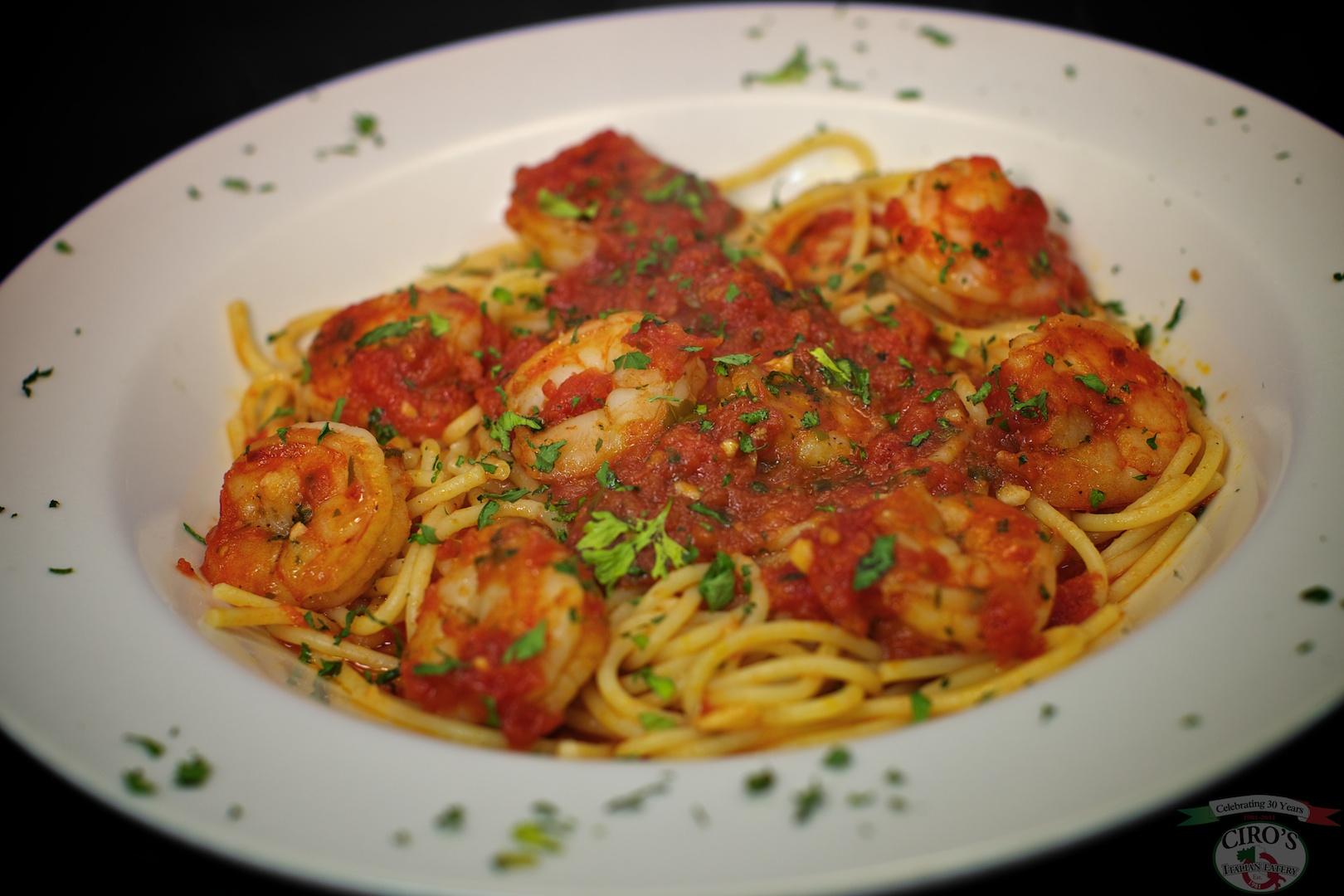 Spaghetti Shrimp Fradiavolo